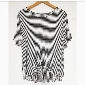 Annabelle striped tied knot top bell sleeves 2x